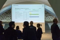 Die Resultate des 2. Wahlgangs werden präsentiert. (Bild: Michel Canonica)