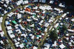 Luftaufnahme des OpenAir-Geländes St.Gallen. (Bild: Hanspeter Schiess)