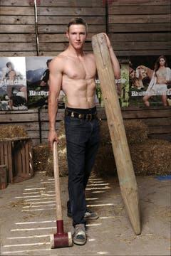 So sieht ein Zürcher Bauer aus: Fabian beim Posieren. (Bild: pd)