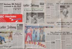 Der SC Herisau war 1997 ein Medienthema - regional wie national. (Bild: Archiv)