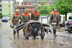 Aufräumarbeiten in Kradolf. (Bild: Mario Testa)
