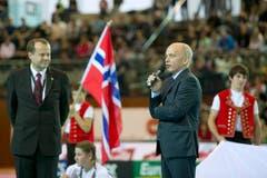 Hoher Gast: Bundesrat Ueli Maurer bei der Eröffnungsfeier. (Bild: Urs Bucher)