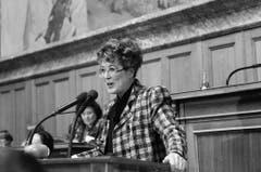 An der Frauensession vom Februar 1991 im Nationalrat. (Bild: Keystone)