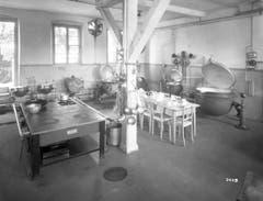 Die Küche der Kantine auf einer Aufnahme vom Juni 1928. (Bild: Bühler AG)
