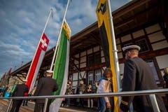 Die Fahnen der Schweiz, des Thurgaus und Romanshorns wurden gehisst. (Bild: Reto Martin)