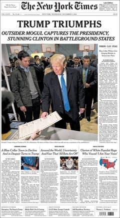 """Die amerikanische Zeitung """"The New York Times"""". (Bild: Printscreen)"""