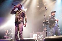 Der dritte Act des Donnerstagabends waren die Hiphopper von Burana Som Sistema. (Bild: Luca Linder)