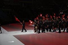 Die Schweiz bei der Eröffnungsfeier (Bild: pd)