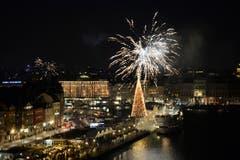 In Stockholm wird der Jahreswechsel ebenfalls mit Feuerwerk zelebriert. (Bild: Keystone)