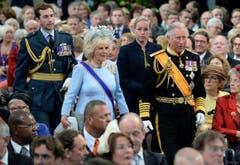 Der britische Prinz Charles mit seiner Ehefrau Camilla. (Bild: Keystone)