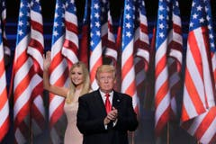 Donald Trump mit Tochter Ivanka. (Bild: Keystone)