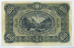 ...und das Jungfraumassiv auf der Rückseite. (Bild: Archiv der SNB)