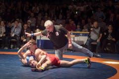 Ringen: Final um die Schweizer Clubmeisterschaft zwischen Kriessern und Willisau (Bild: Michel Canonica)