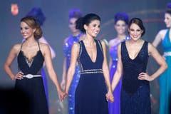 Die drei Finalistinnen Laetitia Guarino, Saranda Maliqi und Michèle Stofer (von links). (Bild: Keystone)
