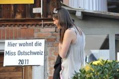 Jeder soll sehen, dass die schönste Ostschweizerin in Muolen wohnt. (Bild: Hanspeter Schiess)