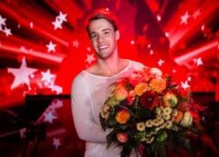 Ein glücklicher Jason Brügger - der Sieger der Talentshow ist um 100'000 Franken reicher. (Bild: Mirco Rederlechner (SRF))