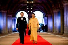 Kronprinz Maha Vajiralongkorn und Prinzessin Maha Chakri Sirindhorn von Thailand. (Bild: Keystone)