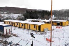 Eine vorläufige Unterkunft für Bewohner von Amatrice. (Bild: EPA/Emiliano Grillotti)