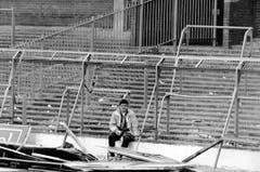 Spuren des Todesdramas im Hillsborough-Stadion von Sheffield. (Bild: Keystone)