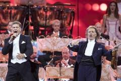 Auch mit André Rieu stand David Hasselhoff schon auf der Bühne. (Bild: Keystone)
