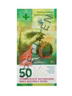 Die neunte Serie wird ab 2016 gestaffelt in Umlauf gesetzt. Als erste Note wurde am 12. April 2016 die 50-Franken-Note herausgegeben. (Bild: Archiv der SNB)