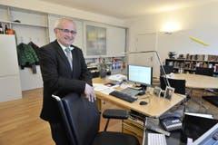 Nino Cozzio im Januar 2013 in seinem Büro. (Bild: HANSPETER SCHIESS/Archiv)