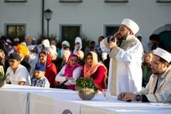 Interreligiöse Feier zum eidgenössischen Bettag, Klosterplatz, St. Gallen (Bild: Peter Käser)