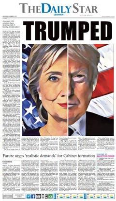 """Die libanesische Zeitung """"The Daily Star"""". (Bild: Printscreen)"""
