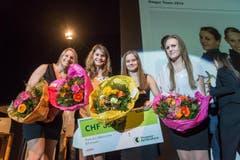 Die Kunstradfahrerinnen des Radfahr-Vereins Sirnach heimsten den Preis als Mannschaft des Jahres ein. (Bild: Michel Canonica)