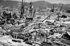 Blick auf das völlig zerstörte Hiroshima. (Bild: Keystone)
