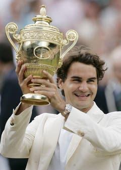 2006 Wimbledon gegen Rafael Nadal (ESP) 6:0, 7:6, 6:7, 6:3 (Bild: Alastair Grant / Keystone)