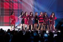 Die Kandidatinnen beim Durchgang in Casual-Mode. (Bild: Keystone)