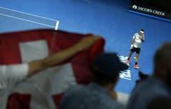 Federer bekommt in Melbourne sehr viel Unterstützung. (Bild: Keystone)