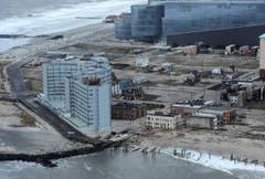 Die Küstenfront von Atlantic City nach dem Sturm Sandy. (Bild: Keystone)