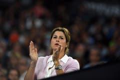 Mirka Federer feuert ihren Mann an. (Bild: Keystone)