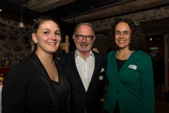 Von links nach rechts: Noemi Amrhein, Hermann Hess, Monica Müller. (Bild: Andrea Stalder)