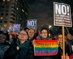 In New York wird gegen Trump protestiert. (Bild: Keystone)