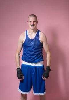 Amateur Ronny Petersen, Jahrgang 1988, Box Academy Bern. (Bild: Benjamin Manser und Urs Bucher)