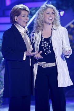 Sie stand am Grand Prix der Volksmusik vom 24. August 2007 zusammen mit Beatrice Egli auf der Bühne. (Bild: Keystone)