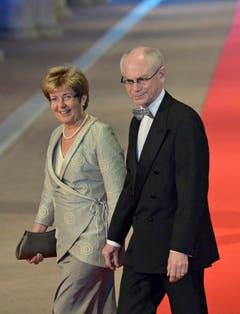 EU-Ratspräsident Herman van Rompuy mit Gattin Geertrui. (Bild: Keystone)