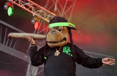 Beim Auftritt von Snoop Lion (ehemals Snoop Dogg). (Bild: Reto Martin)