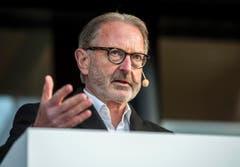 Hermann Hess, Verwaltungsratspräsident der Bodensee Schifffahrt, ist stolz auf das Bauwerk. (Bild: Reto Martin)