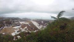 Zerstörte Häuser auf der Karibikinsel St.Thomas. (Bild: IAN BROWN (AP))