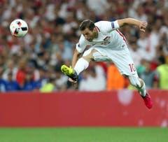 Der Pole Grzegorz Krychowiak im Viertelfinalspiel gegen Portugal. (Bild: Keystone)
