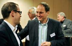 Tagblatt-Chefredaktor Philipp Landmark beim Andruck der neuen Thurgauer Zeitung im Druckzentrum der Tagblatt AG in Winkeln. (Bild: Reto Martin)