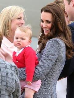 Am 25. April - George ist neun Monate alt - gehts vom Besuch in Australien und Neuseeland zurück nach London. (Bild: Keystone)