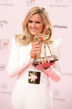 "An der 65. Bambi-Verleihung 2013 gewann Superfrau Helene Fischer den Bambi in der Kategorie ""Beste Nationale Musik"". (Bild: Keystone)"