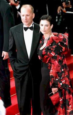 Ebenfalls ein Bild aus dem Jahr 1997: Bruce Willis und Demi Moore am Filmfestival in Cannes. (Bild: Keystone)