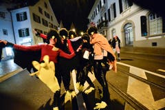"""Jeweils am dritten Montag im Jahr findet in Frauenfeld die Bechtelisnacht statt - für viele die """"Nacht der Nächte"""". Es wird ausgiebig gefeiert und die besten Masken werden prämiert. (Bild: Donato Caspari)"""