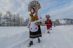 Silvesterchlausen in Urnäsch. (Bild: Cyrill Schlauri)
